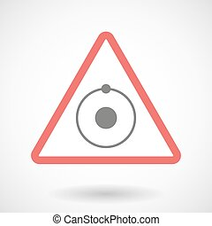 Warning signal with an atom