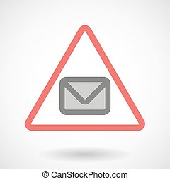 Warning signal with an envelope