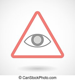 Warning signal with an eye