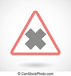 Warning signal with an irritating substance sign