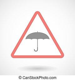 Warning signal with an umbrella