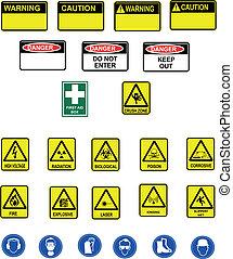 Warning signals - Different warning panels