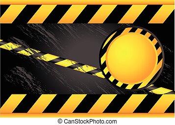 warning signs and warning lines - Yellow black ribbon. ...
