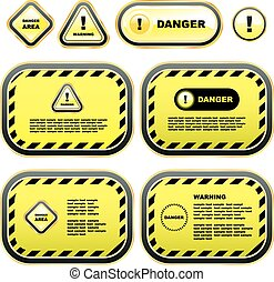 Warning signs. Usable for different design.