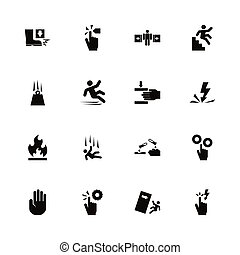 Warning Signs - Flat Vector Icons