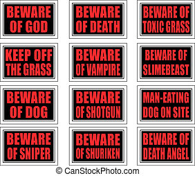 Warning Signs - 12 warning signs with practical and creative...