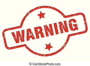 warning stamp