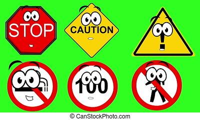 warning - Warning signs talking