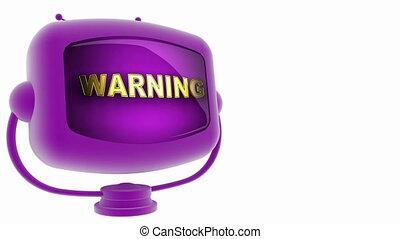 warning on loop alpha mated tv