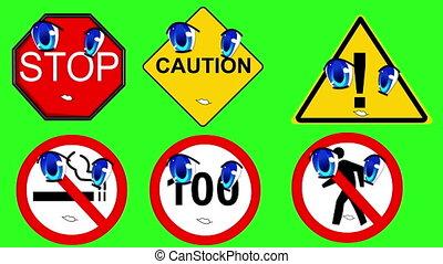 Warning signs talking