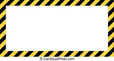 warning striped rectangular background border yellow and...