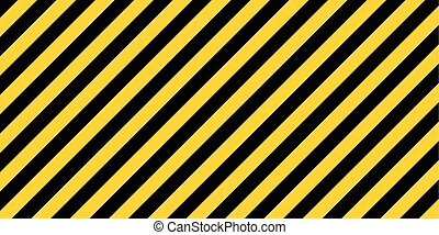 warning striped rectangular background, yellow and black stripes on the diagonal, a warning to be careful - the potential danger vector template sign