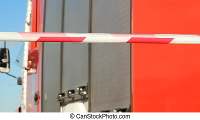 Warning tape fencing against fire e