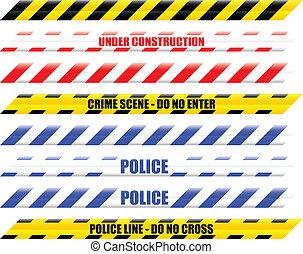 Warning Tape - Seamless vector illustration