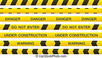 Warning tapes set