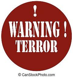 warning!, terror-stamp