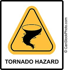 Warning tornado sign