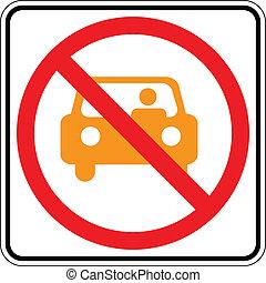 Warning traffic sign, NO PARKING