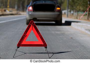 Warning triangle closeup