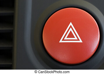 warning triangle - a hazard warning flasher button from a...