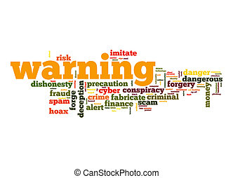 Warning word cloud
