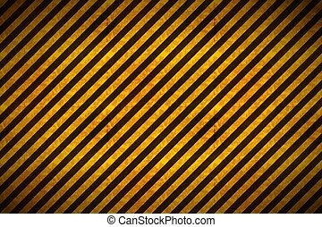 Warning yellow and black stripes with grunge texture, industrial background