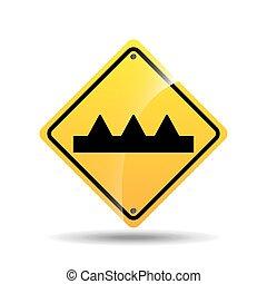 warnung, design, zeichen, straße, ikone