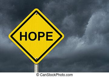 warnung, hoffnung, zeichen
