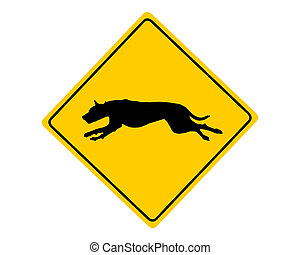 warnung, hund, zeichen
