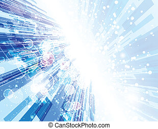 Warp Speed Abstract Background