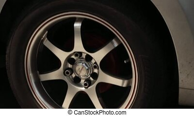 Warped Automotive Tire And Rim