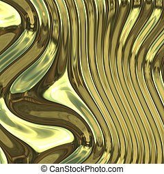 Smooth glossy chromed warped reflective metal surface texture