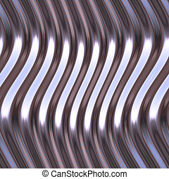 Warped reflective chromed metal surface texture background
