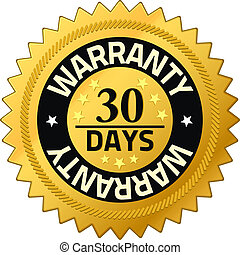 Warranty 30 days Quality Guarantee Badges