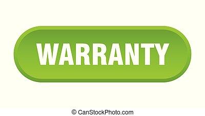 warranty button. warranty rounded green sign. warranty