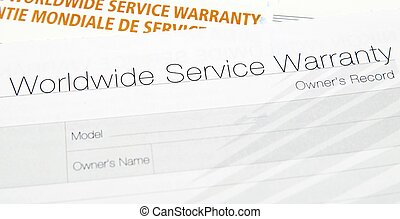 warranty card - This is an image of warraty card.