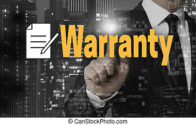Warranty concept is shown by businessman