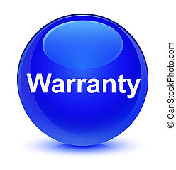Warranty glassy blue round button