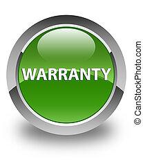 Warranty glossy soft green round button