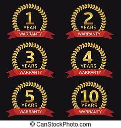 Warranty label set