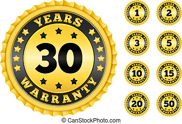 Warranty Labels Collection - Warranty labels collection,...
