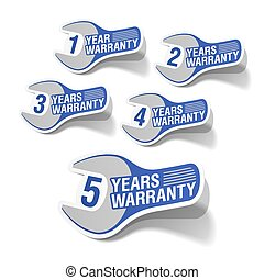 Warranty labels - Vector illustration of warranty labels