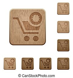 Warranty product purchase wooden buttons
