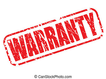 WARRANTY red stamp text