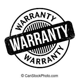 Warranty rubber stamp