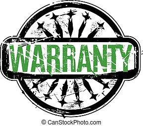 Warranty rubber stamp vector illustration