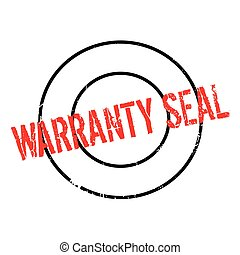 Warranty Seal rubber stamp
