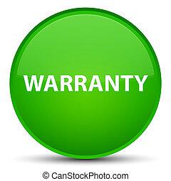 Warranty special green round button