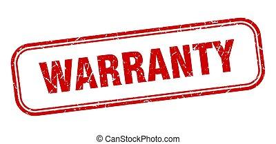 warranty stamp. warranty square grunge sign. warranty