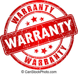 Warranty vector stamp isolated on white